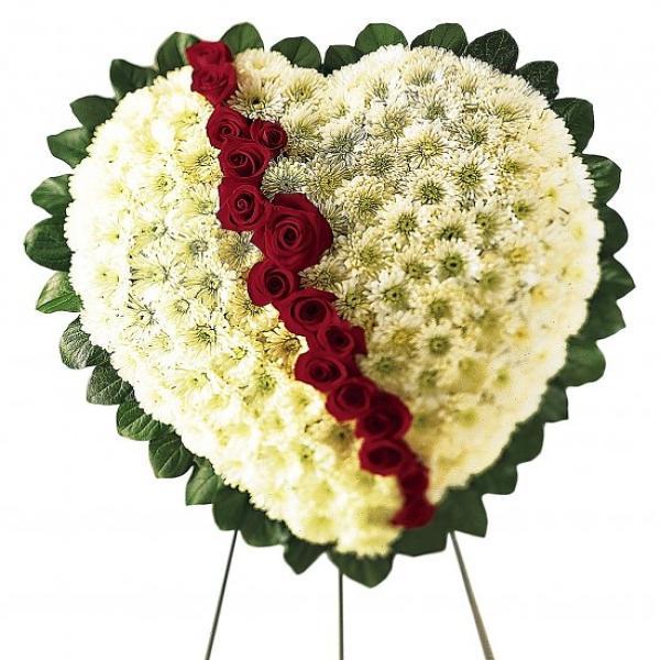 Modern Condolence Bouquet Flowers Crest Top Wedding